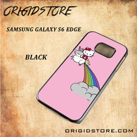 HELLO KITTY UNICORN Snap on 2D Black and White Or 3D Suitable With Image For Samsung Galaxy S6 Edge Case