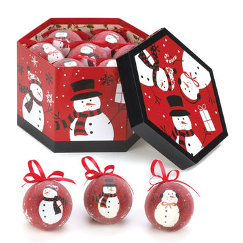 HAPPY SNOWMEN ORNAMENTS