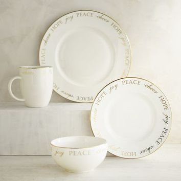 Holiday Peace & Joy Porcelain Dinnerware