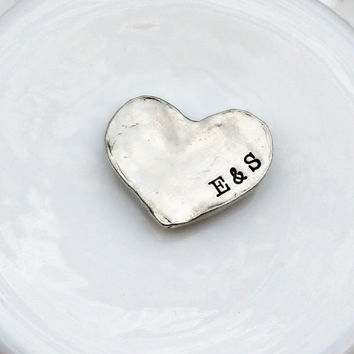 Personalized Pocket Stone- Pewter Message Stone - Affirmations - Pocket Pebbles - Pocket Tokens