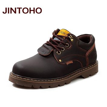 Men Genuine Leather Casual Shoes Leather Men Shoes Work Safety Boots Designer Men Flats Men Work & Safety Shoes