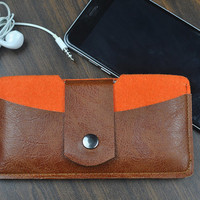 Cell Phone Case, iPhone 6/6 Plus Case,iPhone 5 / 5S sleeve, iPhone 5C, iPhone 4/4S,Felt  and  leather  Cell Phone Case.