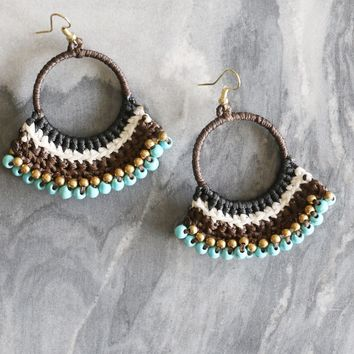 Beaded Crochet Earring