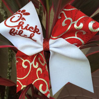 Chick-Fil-A Cheer Bow