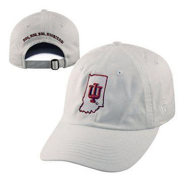 Licensed Indiana Hoosiers Official NCAA Adjustable Crew Hat Cap by Top of the World KO_19_1