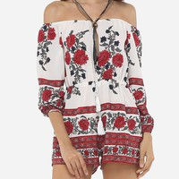 Casual Floral Printed Captivating Rompers