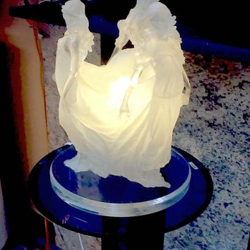 """""""SONGS OF GRACE ACRYLIC SCULPTURE table lamp"""
