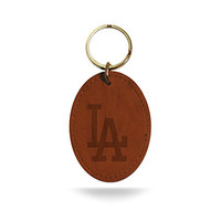 MLB Los Angeles Dodgers Leather Keychain