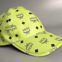 Green PU original skin MCM new hat cap