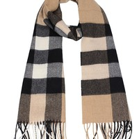 Burberry The Large Classic Cashmere Scarf in Check - Camel