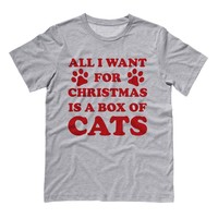 All I Want For Christmas is a Box of Cats Shirt