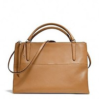 THE LARGE BOROUGH BAG IN RETRO GLOVE TAN LEATHER