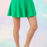 All The Right Moves Skirt-Kelly Green