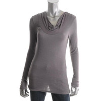 Planet Gold Womens Drapey Jersey Pullover Top