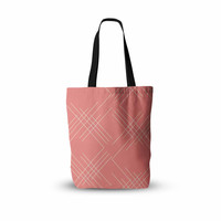 "Famenxt ""All A Blaze Abstract"" Coral Beige Illustration Everything Tote Bag"