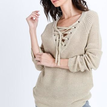 Lora Sweater in Oatmeal
