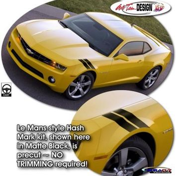 Precut Le Mans Style Hash Mark Auto Graphic Kit 1 for Chevrolet Camaro 5th Generation