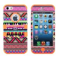 3-Piece Tribe Pattern Silicone Case For Apple iPhone 5
