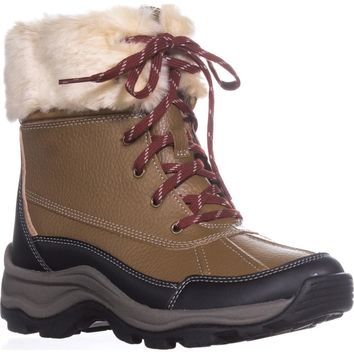 Clarks Mazlyn Arctic Fur Cuffed Hiking Boots, Tan, 6.5 US / 37 EU