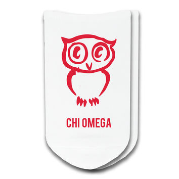 Chi Omega - Sorority Icon No-Show Socks