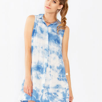 Head in the Clouds Tie Dye Dress