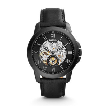 Grant Automatic Black Leather Watch - $195.00