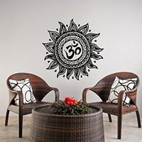 Wall Decals Mandala Ornament Indian Geometric Moroccan Pattern Namaste Lotus Flower Yoga Wall Vinyl Decal Stickers Bedroom Murals