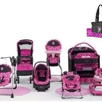 Baby Gear Bundle Stroller Travel System,Playard,Bouncer,Swing,Walker,Diaper Bag