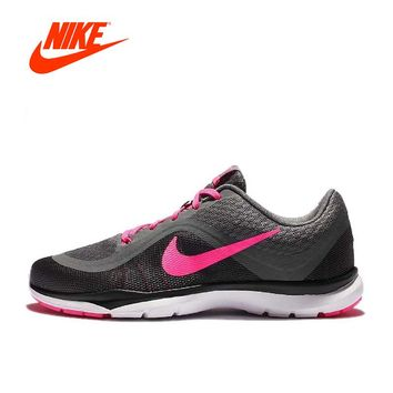 Intersport Original New Arrival Authentic Nike FLEX TRAINER 6 ST Breathable Women's Running Shoes Sports Sneakers Comfortable