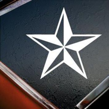 Nautical Star Logo Vinyl Sticker Decal Car Truck Windon Wall Laptop notebook