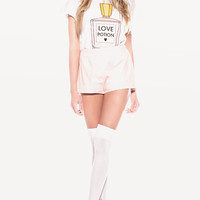 PINK POTION DESERT CREWNECK at Wildfox Couture in  BEL AIR, -CLEAN WHITE