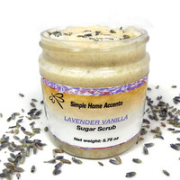 Lavender Vanilla Sugar Scrub, 8 oz Vegan Sugar Scrub, Exfoliating Scrub, Body Scrub, Gift under 20