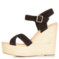 WHISPERED Cross Over Wedges - Heels - Shoes - Topshop