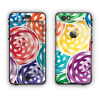 The Colorful Spiral Eclipse Apple iPhone 6 Plus LifeProof Nuud Case Skin Set