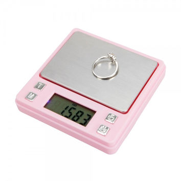 100g/0.01g Portable Digital Pocket Scale for Jewelry - Gold  - Weed P321 g - ozt - ct - oz Pink
