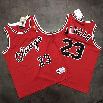 Chicago Bulls 23 Jordan Red Champion Basketball Jersey | Best Deal Online