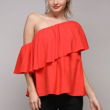 Poppy Red Top