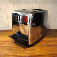 Vintage Chrome Toaster 1950s Toastmaster Powermatic Super Delux Art Deco Mid Century