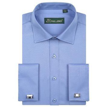 Men's French Cuffs Dress Shirt (Cuff links Included)