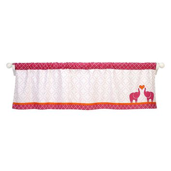 Happy Chic by Jonathan Adler Party Elephant Window Valance (Pink)