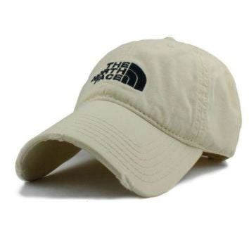 ONETOW Beige The North Face Cotton Baseball Golf Cap Hat