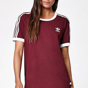 adidas 3 Stripes Ringer T Shirt at
