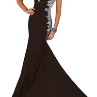 Gorgeous Bridal Glitzy Evening Party Gown Pageant Dress Long with Sequins