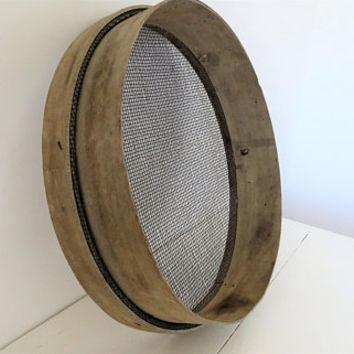 Vintage French, Wooden Flour Sieve,