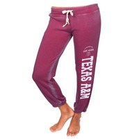 Texas A&M Aggies Women's Riverside Sandblast Sweatpants – Maroon