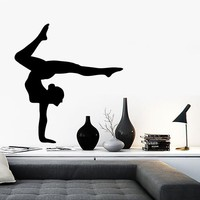 Wall Stickers Vinyl Decal Yoga Pose Studio Woman Decor Mural Unique Gift (ig059)