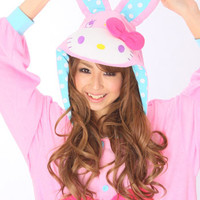 Kigurumi Shop | Hello Kitty Bunny Pink Kigurumi - Animal Costumes & Pajamas by Sazac