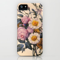 P.J.Redoute Vintage botanical illustration, rose flowering bouquet. iPhone & iPod Case by ArtsCollection