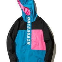 cc spbest Onceagain Hooded Windbreaker