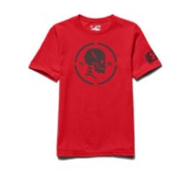 Under Armour Boys' UA Combine Training Skull T-Shirt